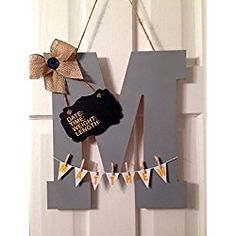 Welcome baby hospital door hanger, nursery hanger, personalized, custom initial announcement childs room LETTER Hospital Door Signs, Hospital Door Hangers, Baby Door Hangers, Baby Door Wreaths, Welcome Baby Signs, Painting Wooden Letters, Cardboard Letters, Child Room, Kids Room