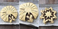 Yeast star with poppy seed recipe-Hefestern mit Mohn – Rezept Yeast poppy seed cake - Cookie Cake Decorations, Cookie Cake Designs, Cake Mix Cookie Recipes, Chocolate Cookie Recipes, Brownie Recipes, Chocolate Chips, Brownie Cookies, Edible Cookies, Best Holiday Cookies
