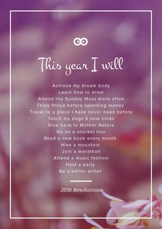 My 2016 Resolutions   I hope it'll inspire you and give you an idea!
