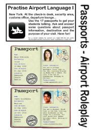 English teaching worksheets: The passport teaching activities that can be changed to Spanish