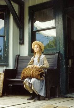 Anne of Green Gables waiting at Bright River train station for Mr Matthew Cuthbert