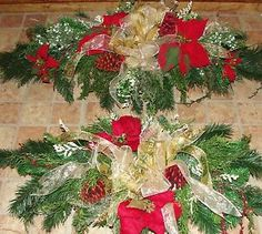 Christmas Cemetery Tombstone Saddle Headstone Spray Grave and Flower Grave Flowers, Cemetery Flowers, Funeral Flowers, Outdoor Christmas Decorations, Paper Decorations, Christmas Wreaths, Christmas Flowers, Christmas Ideas, Floral Decorations