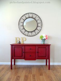 Picked & Painted: Custom Posh Red Buffet