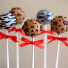 Safari cake pops @Quinn Jones Jones Jones williams