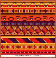 Seamless ethnic background Tribal pattern - original image