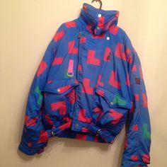 378f06b629 FOR SALE Franz Klammer Super Rare Retro Vintage 80 s 90 s Ski Suit Jacket  Blue