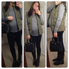 Fall maternity winter outfit