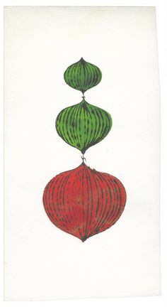 Christmas Ornament by Andy Warhol, ca.1957. Ink and Dr. Martin's Aniline Dye on paper | Andy Warhol Foundation for the Visual Arts ©