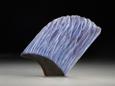 "Alex Bernstein ""PA Muse 1"" cast, cut glass, fused steel. http://www.morganglassgallery.com/imagepages/pa-muse1.htm"