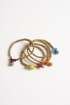 c22547013 Brass Beaded Bracelets by Corey Lynn Calter ----- Stackable brass beaded  bracelets