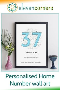 Custom home number wall art - add your street name, address, household members and your own message. Unique personalised gift idea. #elevencorners #giftideas #personalisedprints #wallart #newhome #housewarming Personalised Family Print, Personalised Gifts For Him, Personalized Wall Art, New Home Presents, New Home Gifts, Unique Housewarming Gifts, Family Wall Art, Birthday Gift For Him, Grandparent Gifts