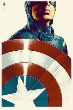 Mondo Captain America Poster