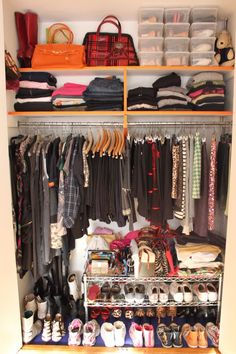 Closet cleaning inspiration from my Fave!