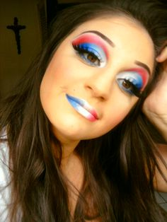 My 4th of July Makeup Look!!!   LUUUX