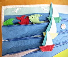 Love the zoo page and the sea: ship attached on tye zip!