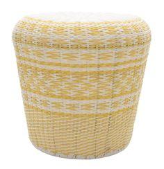 Bora Drum Yellow Garden Stool