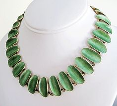 Vintage Sterling Enamel Norway David-Andersen Modernist Necklace Willy Winnaess from The Quick Red Fox