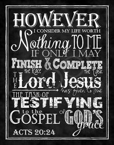 Schrift Tafel Art - Apostelgeschichte 20:24