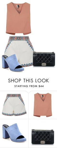 """""""Sin título #362"""" by xjustinv ❤ liked on Polyvore featuring Talitha, Topshop, Robert Clergerie and Chanel"""