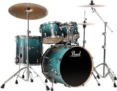 Pearl VBA925S Vision Birch Artisan 5 Piece Drumset with 900 Series Hardware - Emerald Fade