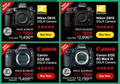 Nikon-Canon-DSLR-camera-price-drop