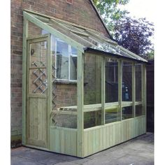 door window greenhouse | Swallow Finch Lean-To 5ft x 6ft (1.38m x 1.92m) Greenhouse with Double ...
