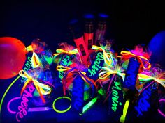 Bringing Up Burns: Molly's NINTH Neon/Glow in the Dark Dance Birthday Party Party favors