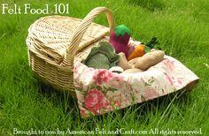 Felt food 101- How to make Felt Food lesson 5 Stuff it!