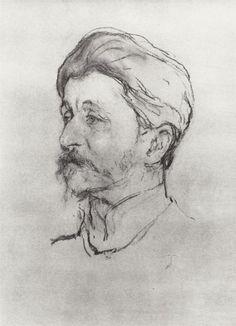 Portrait of the Artist M.A. Vrubel, 1907  Valentin Serov