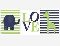 Girafe et éléphant, bonne idée!