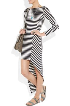 Elizabeth and James  Claudia striped stretch-jersey maxi dress