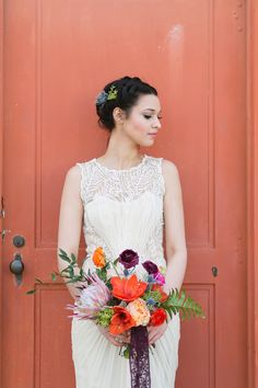 Wedding Dress: BHLDN - bhldn.com Photography: Charla Storey Photography - http://www.stylemepretty.com/portfolio/charla-storey   Read More on SMP: http://www.stylemepretty.com/2014/05/05/spanish-style-wedding-inspiration/