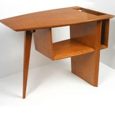 "Really cool end table designed by George Farkas from 1949. This will be part of an exhibition with a focus on ""Tropical Modernism,"" opening at the Harn Museum in October 2008."