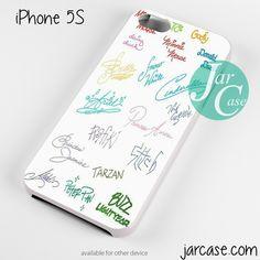 disney signature Phone case for iPhone 4/4s/5/5c/5s/6/6 plus