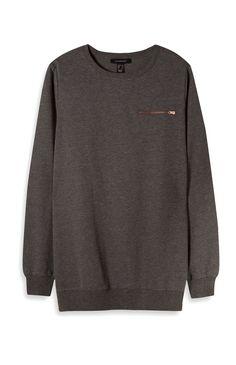 Charcoal Zip Pocket Sweatshirt