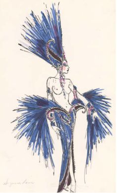 Blue Showgirl Finale Costume designed by Bob Mackie