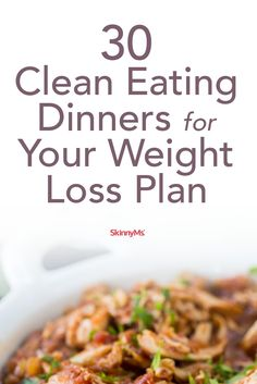 Clean Dinners for Your Weight Loss Plan - Dinners for losing weight can be delicious AND healthy! Check them out! Clean Dinners for Your Weight Loss Plan - Dinners for losing weight can be delicious AND healthy! Check them out! Clean Dinner Recipes, Clean Dinners, Clean Eating Recipes, Diet Recipes, Healthy Eating, Cooking Recipes, Healthy Recipes, Healthy Food, Healthy Weight