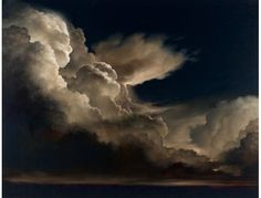 """NOT A PHOTO. James McLaughlin Way. """"Nuvole Di Notte"""" - 84"""" x 108"""" oil on canvas."""