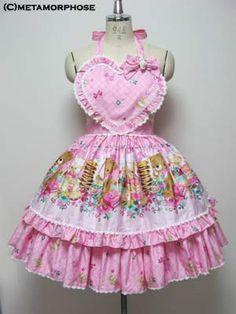metamorphose temps de fille honey picnic エプロン付スカート
