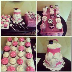 Graduation cake cupcakes and cake pops