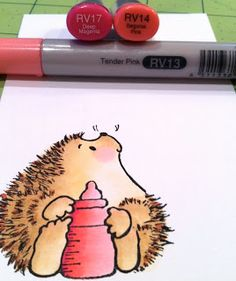 The Daily Marker: a tutorial on coloring Penny Black hedgehogs