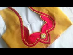 very simple and beautyfull blouse back neck designe cutting and stitching at home 2018 - YouTube