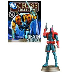 DC Superhero - Deathstroke - Black Pawn -  Chess Piece with Magazine