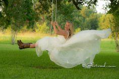Country | Boots | Wedding Dress Flowing | Bride | Bridal Portrait