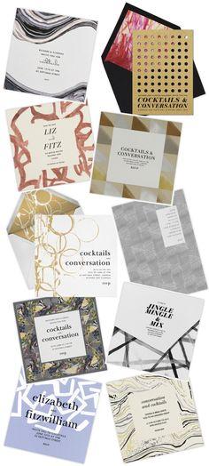 chic designer invites, kelly wearstler, paperless post