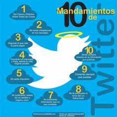 Los 10 mandamientos de Twitter #infografia #infographic #socialmedia