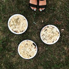 Apple, date and fennel crumble topped with seeds, oats and rye. #oneintheoven #woodfiredoven #dessert #happycampers #bakerontour #designersonholiday #sweden #gotland