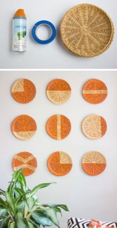 Turn old school paper plate holders into modern geometric wall art 10 Awesome… Cool Wall Decor, Diy Wall Art, Diy Art, 3d Wall, Paper Plate Holders, Paper Plates, Wicker Table, Wicker Couch, Wicker Trunk