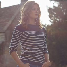 Love it! | Den här tröjan (originalet) hade jag på 1970-talet. En favorit! Navy Sailor Stripe Jumper (Fair Trade)