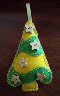 Star Christmas Tree... Felt Christmas Tree with stars... Felt Christmas Decorations...